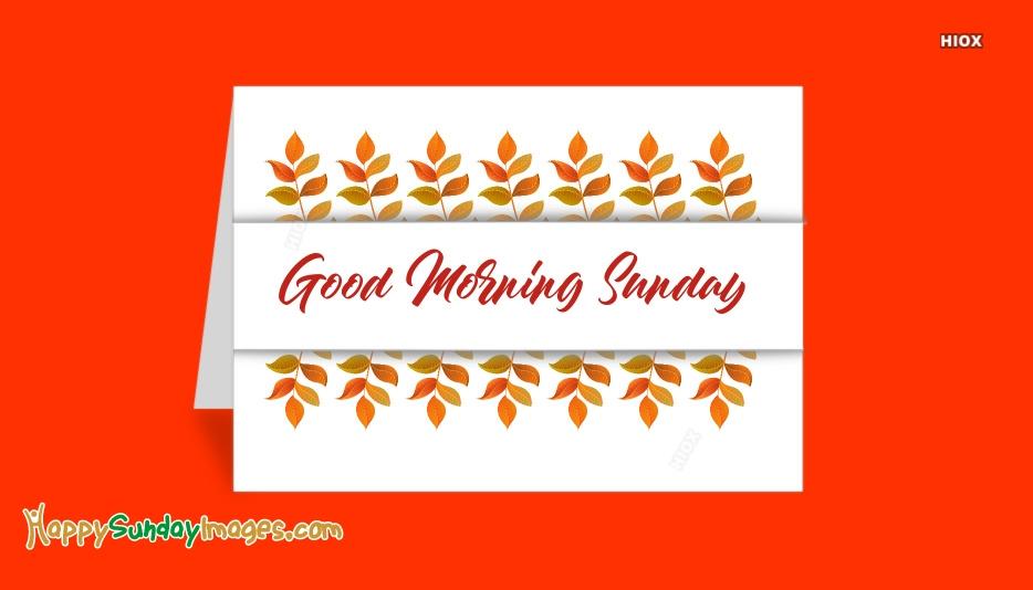 Good Morning Sunday Facebook