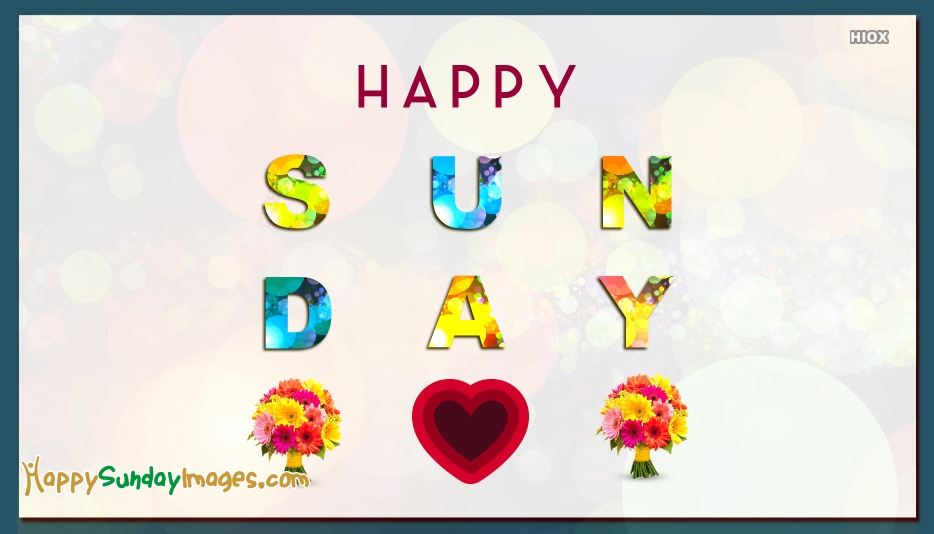 Happy Sunday Images for Heart