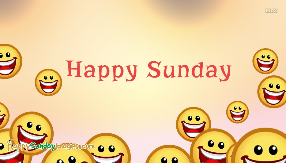 Happy Sunday Smiley Face