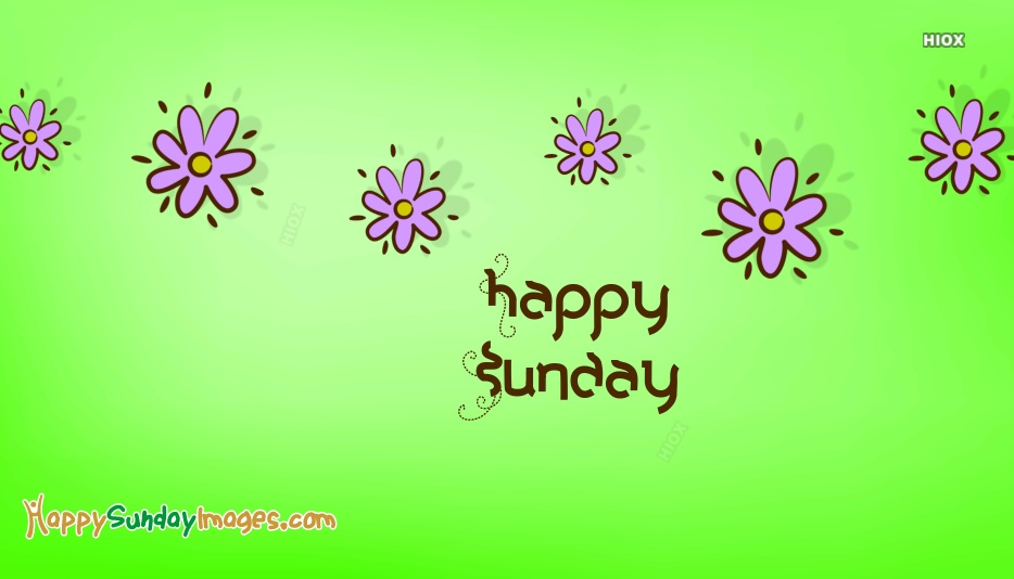 Happy Sunday New Image