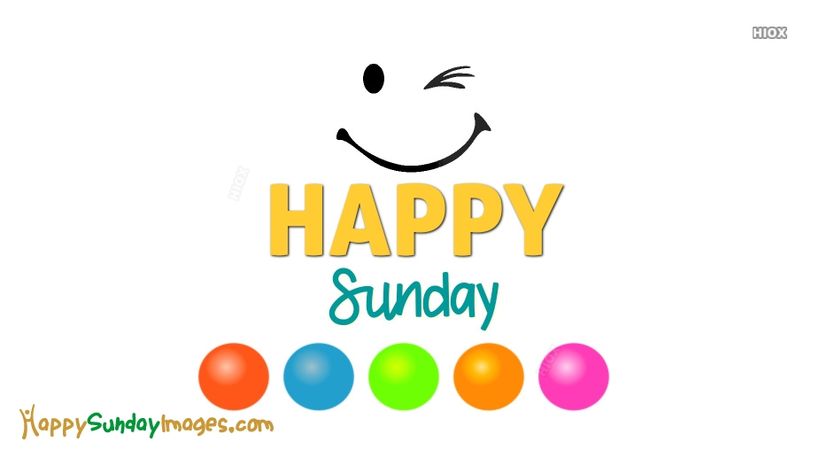 Happy Sunday Smiley Images