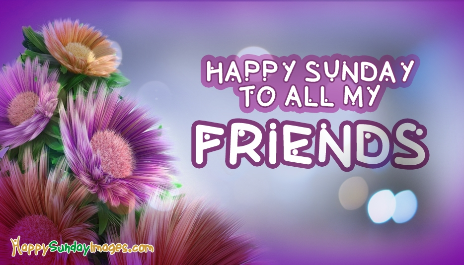 Happy Sunday Images with Flowers For Facebook