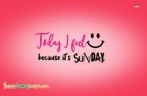 Happy Sunny Sunday Morning