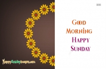 Happy Sunday Wishes With Good Morning