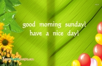 Good Morning Sunday Have A Nice Day