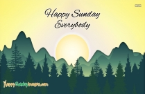 Happy Sunday Everyone