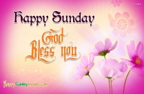 Happy Sunday. God Bless You
