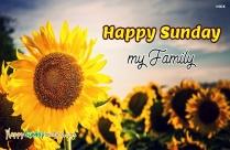 Happy Sunday My Family