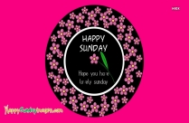 Happy Sunday Sms