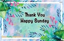 Thank You Happy Sunday