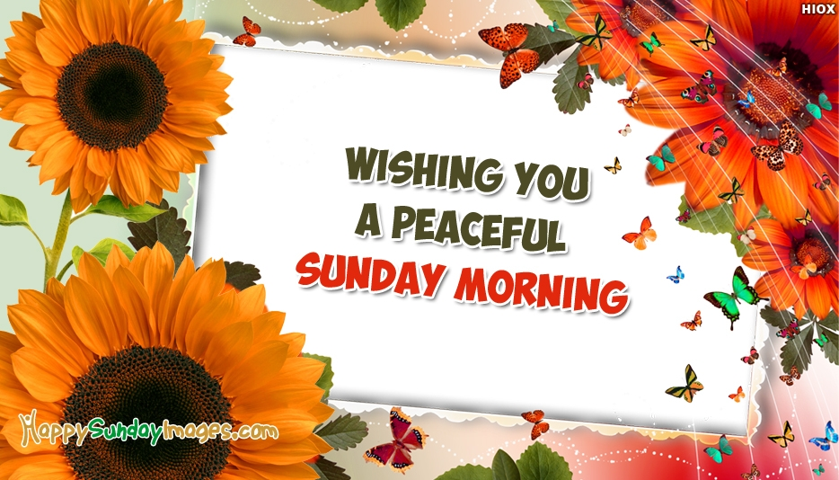 Wishing You A Peaceful Sunday Morning